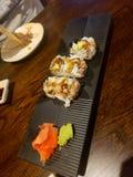 Rotolo dell'anguilla dei sushi immagini stock libere da diritti