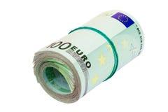 Rotolo dell'euro Fotografia Stock