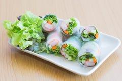 Rotolo dell'insalata Fotografie Stock