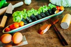 Rotolo dell'insalata Fotografia Stock Libera da Diritti