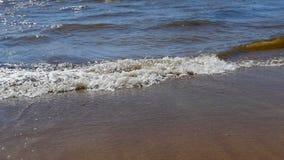 Rotolo dell'onda del mare della spuma stock footage