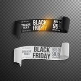 Rotolo della carta di Black Friday Modello realistico del rotolo della carta di vettore Immagine Stock