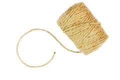 Rotolo della corda di tela della corda isolata Fotografia Stock