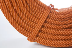 Rotolo della corda rossa del poliestere Fotografia Stock