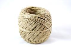 Rotolo della cordicella della corda della canapa Fotografia Stock