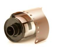 Rotolo della pellicola sopra bianco immagine stock