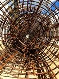 Rotolo della rete del filo di acciaio o del cavo Fotografia Stock