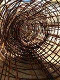 Rotolo della rete del filo di acciaio o del cavo Fotografia Stock Libera da Diritti