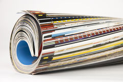 Rotolo della rivista Immagine Stock