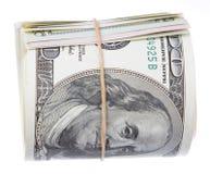 Rotolo delle banconote in dollari degli Stati Uniti 100 Immagine Stock Libera da Diritti