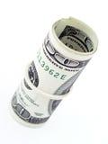 Rotolo delle fatture del dollaro Fotografie Stock Libere da Diritti