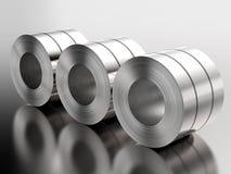 Rotolo delle lamiere di acciaio in fabbrica illustrazione vettoriale