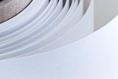 Rotolo di carta bianco Immagini Stock Libere da Diritti