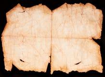 Rotolo di carta d'annata isolato sul nero Fotografia Stock Libera da Diritti