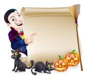 Rotolo di Dracula del vampiro di Halloween Fotografia Stock