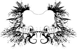 Rotolo di Grunge Fotografia Stock