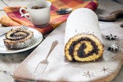 Rotolo di Pandishpan con cioccolato fotografia stock libera da diritti