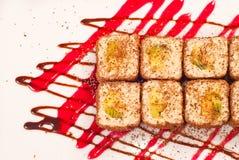 Rotolo di sushi del sudore Fotografia Stock Libera da Diritti