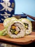 Rotolo di sushi delizioso Fotografia Stock Libera da Diritti