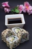 Rotolo di sushi di California Fotografia Stock