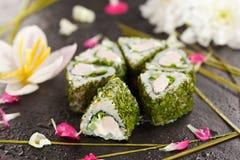 Rotolo di sushi di Maki Fotografia Stock