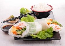 Rotolo di sushi giapponese fotografie stock
