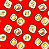 Rotolo di sushi su fondo rosso Immagini Stock