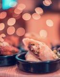 Rotolo domestico indiano del pollo di stile immagini stock