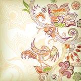 Rotolo e quetzal floreali Fotografia Stock Libera da Diritti