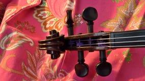 Rotolo sul rosa, scatola del violino di lettera fotografie stock libere da diritti