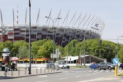 Rotonda accanto allo stadio nazionale fotografia stock libera da diritti