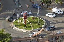 Rotonda alla città Hall Road a Nairobi, Kenya, editoriale immagini stock libere da diritti