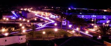 Rotonda alla notte, Corralejo immagini stock libere da diritti