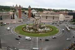 Rotonda Barcellona di Placa de Espanya fotografie stock
