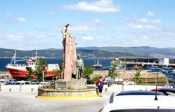 Rotonda con l'emigrante del monumento Fotografie Stock Libere da Diritti
