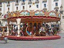 Rotonda d'annata del carosello, Firenze, Italia fotografia stock
