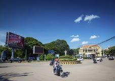 Rotonda del damnak di Wat nella città centrale Cambogia di Siem Reap immagini stock