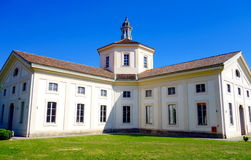 Rotonda della Besana. The Rotonda della Besana main building and park in Milan. is a late baroque building complex and former cemetery in Milan, Italy, built Stock Image