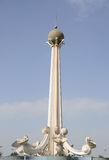 Rotonda della perla nella città della Sharjah immagine stock