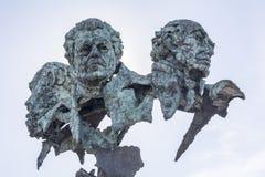Rotonda della statua dei poeti, Badajoz, Spagna fotografia stock libera da diritti