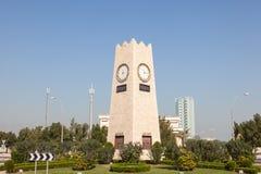 Rotonda della torre di orologio a Madinat al-Kuwait fotografie stock