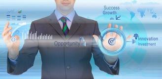 Rotonda di successo di affari Immagini Stock Libere da Diritti