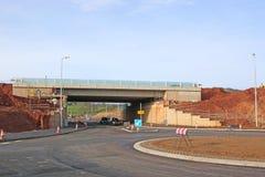 Rotonda e ponte in costruzione Fotografia Stock