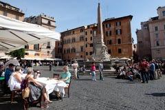 Rotonda fyrkant i Rome Arkivbild