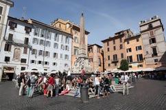 Rotonda fyrkant i Rome Arkivfoto