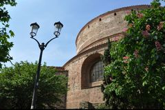 Rotonda of Galerius Thessaloniki Greece. Rotunda is one of the oldest religious sites of the city. Used both as a Christian temple for 1200 years, it was stock image