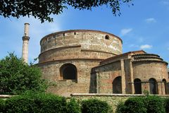 Rotonda of Galerius Thessaloniki Greece. Rotunda is one of the oldest religious sites of the city. Used both as a Christian temple for 1200 years, it was stock photography