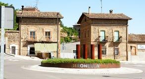 Rotonda a Gironella fotografia stock