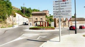 Rotonda a Gironella fotografia stock libera da diritti