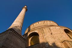 Rotonda, igreja cristã adiantada em Tessalónica, Grécia imagens de stock